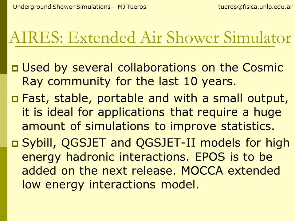 Number of Muons Underground Shower Simulations – MJ Tueros tueros@fisica.unlp.edu.ar 1 EeV Iron 1 EeV Proton
