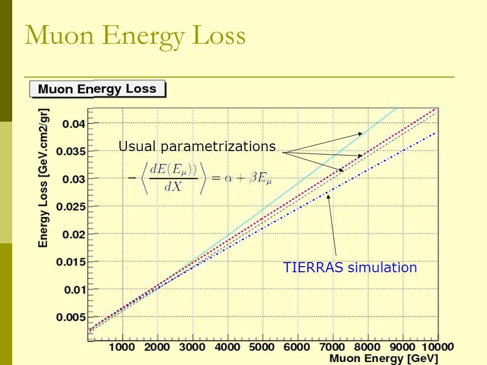 TIERRAS: Evolving Aim & Scope  Fast particle propagation through dense homogeneous medium.