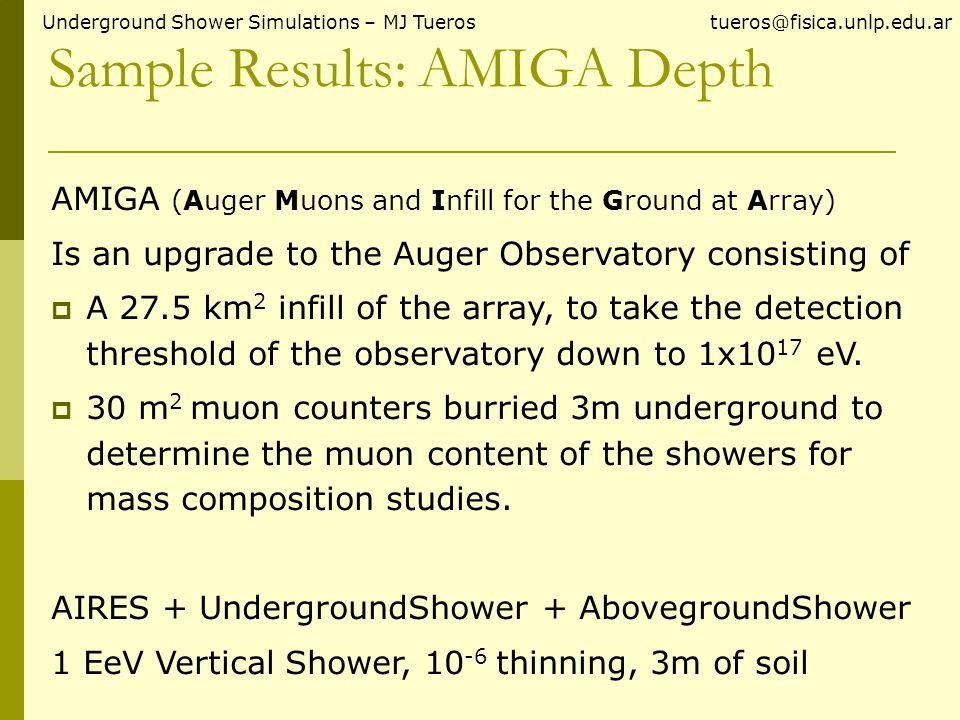 Muon Lateral Distribution Underground Shower Simulations – MJ Tueros tueros@fisica.unlp.edu.ar