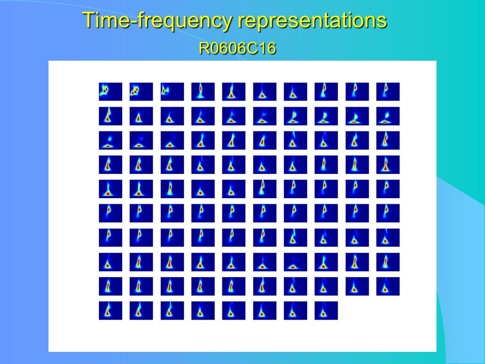 Time-frequency representations R0606C16
