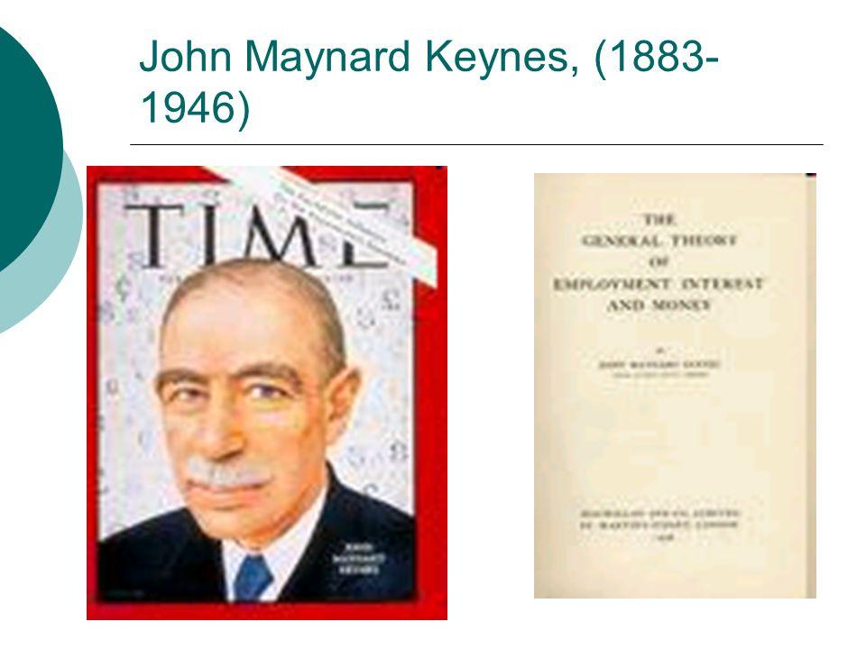 John Maynard Keynes, (1883- 1946)