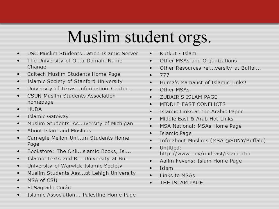 Muslim student orgs.