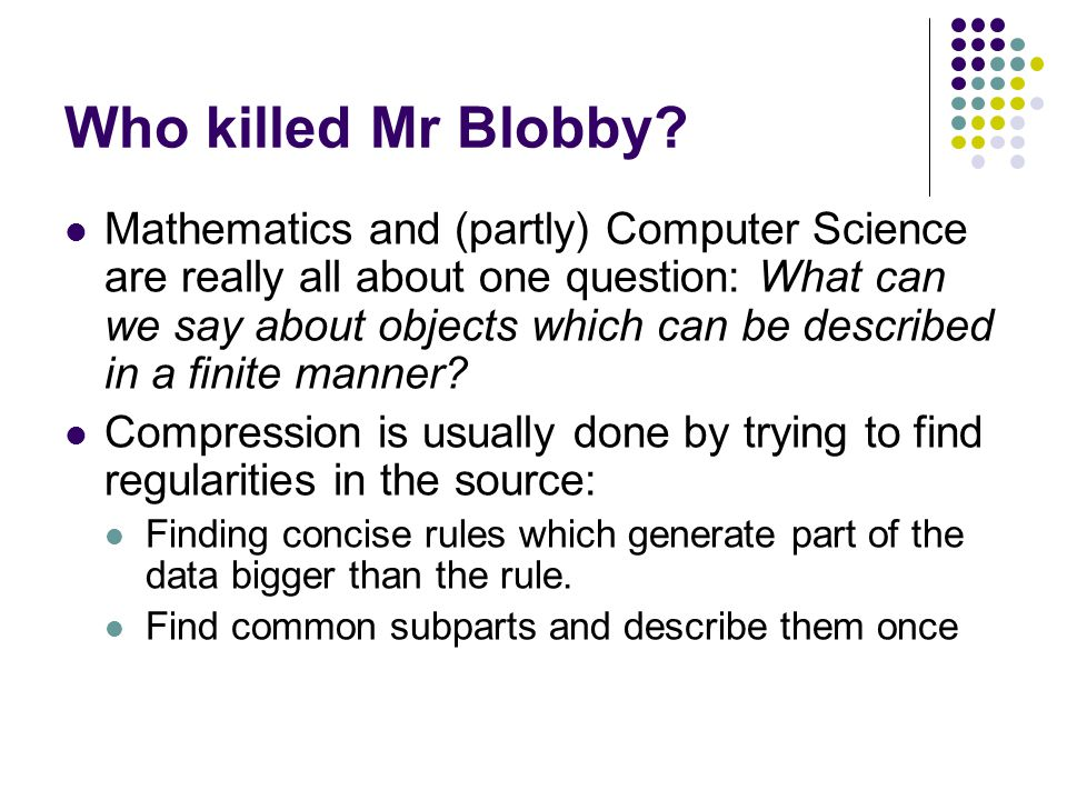 Who killed Mr Blobby.