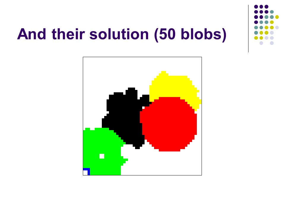 And their solution (50 blobs)