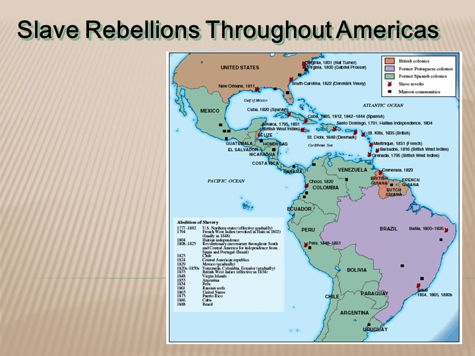 Slave Rebellions Throughout Americas