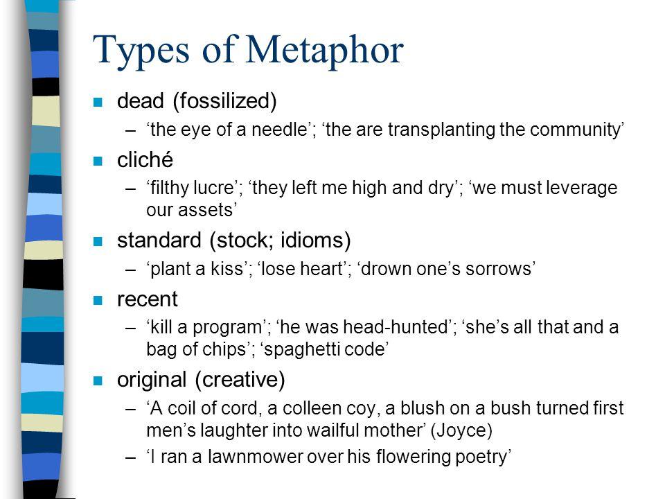 Anatomy of a Metaphor a sunny smile metaphor object image (vehicle) = 'sun' sense (tenor) = 'cheerful', 'happy', 'bright', 'warm' sourcetarget