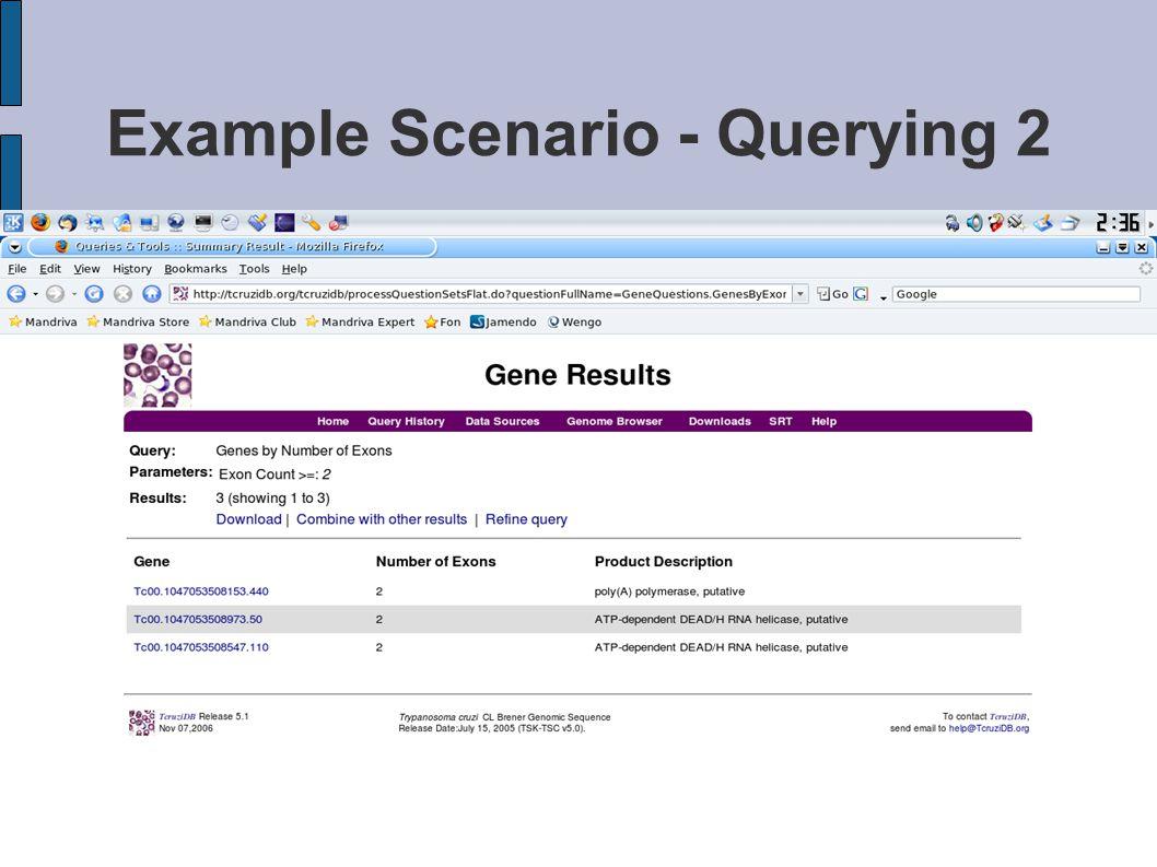 Example Scenario - Querying 2