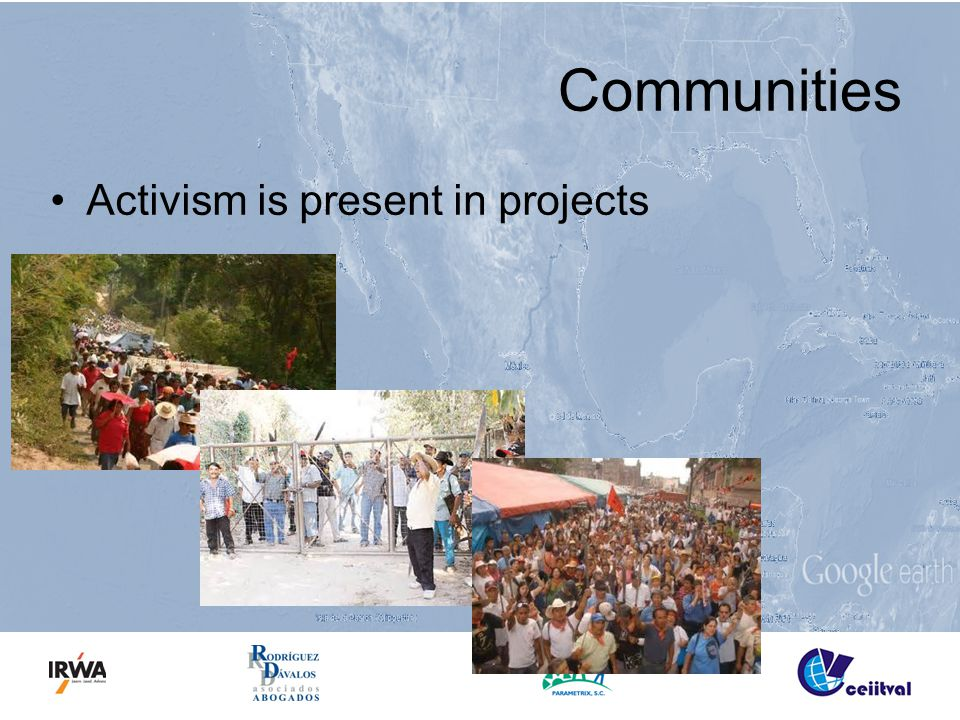 Communities Activism is present in projects