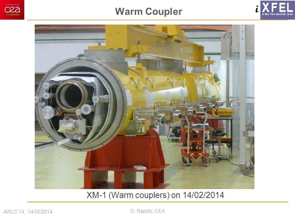 i Warm Coupler AWLC'14, 14/05/2014 O. Napoly, CEA XM-1 (Warm couplers) on 14/02/2014