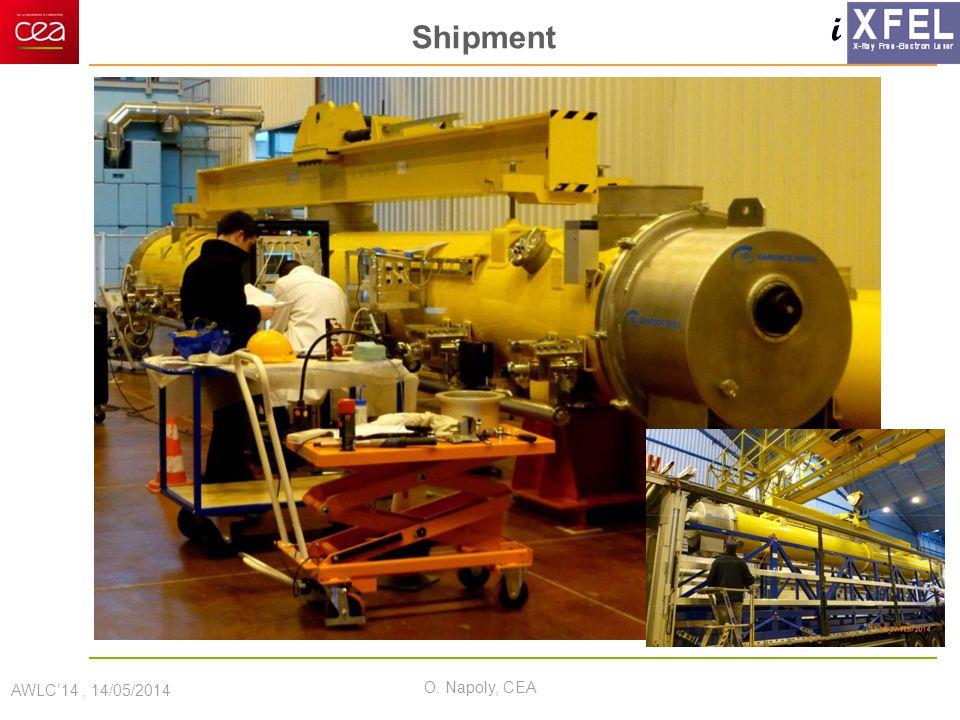i Shipment AWLC'14, 14/05/2014 O. Napoly, CEA