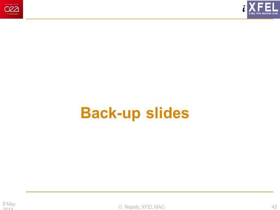 i Back-up slides O. Napoly, XFEL MAC 6 May 2014 42