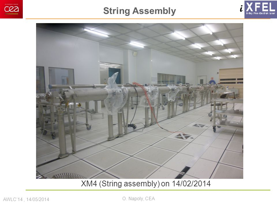 i String Assembly AWLC'14, 14/05/2014 O. Napoly, CEA XM4 (String assembly) on 14/02/2014