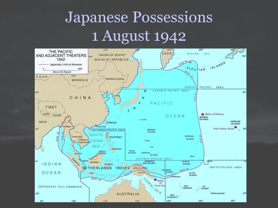 Japanese Possessions 1 August 1942