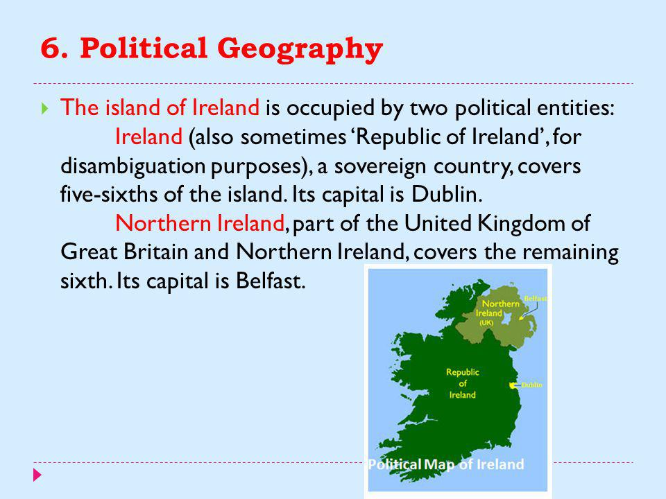 5. Northern Ireland  In the first half of the 20th century, Northern Ireland was largely spared the strife of the Civil War  Although the Irish Free