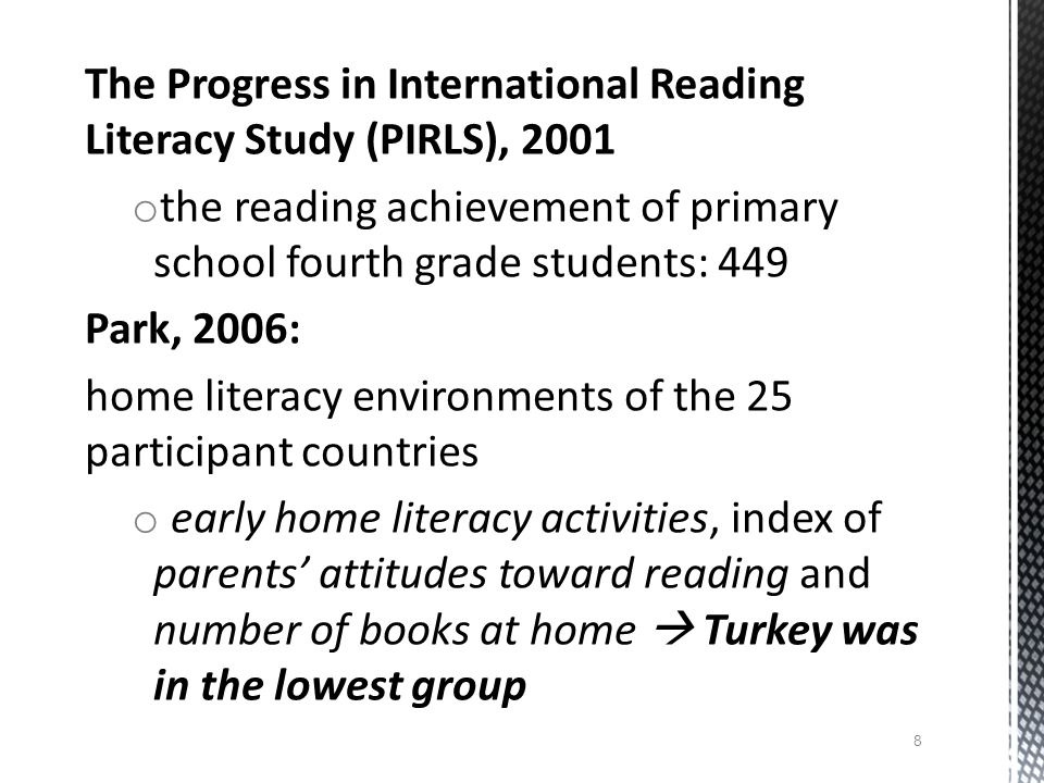  define the nature of motivation to read in Turkish (L1) and in English (L2)  to explore the relationship between the students' motivations to read and their success in reading exams  to gain an insight as to the educational value students assign to reading motivation in the classroom dynamics Purpose of the study 9