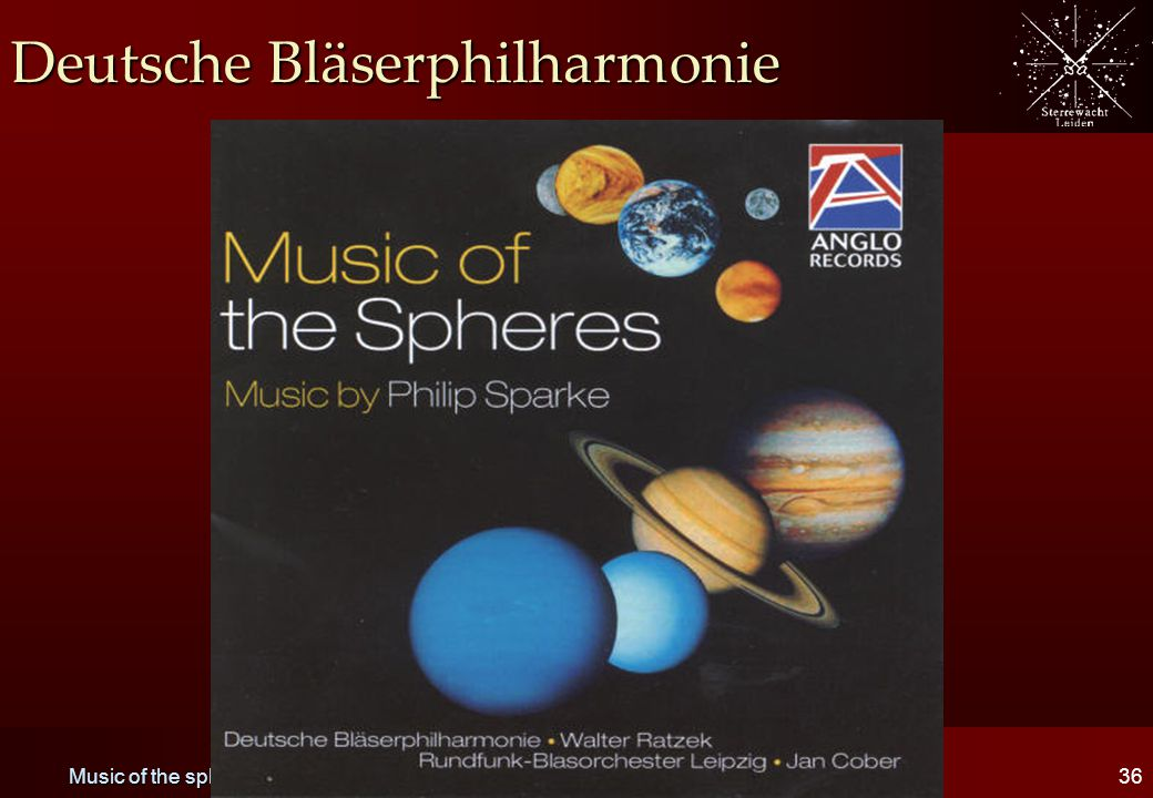 Music of the spheres36 Deutsche Bläserphilharmonie