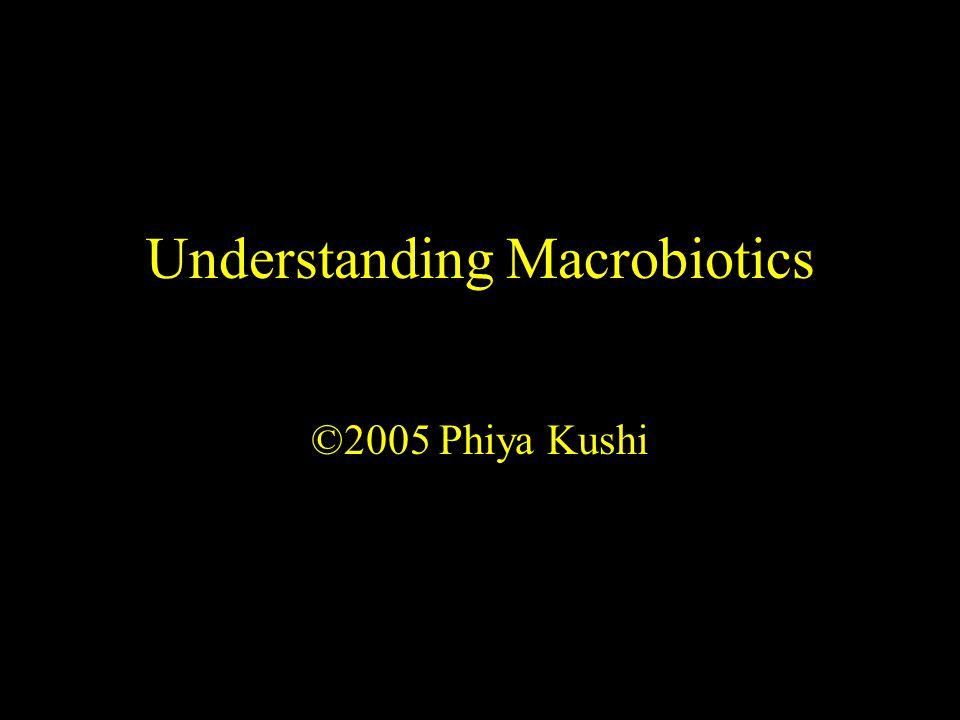 Understanding Macrobiotics ©2005 Phiya Kushi