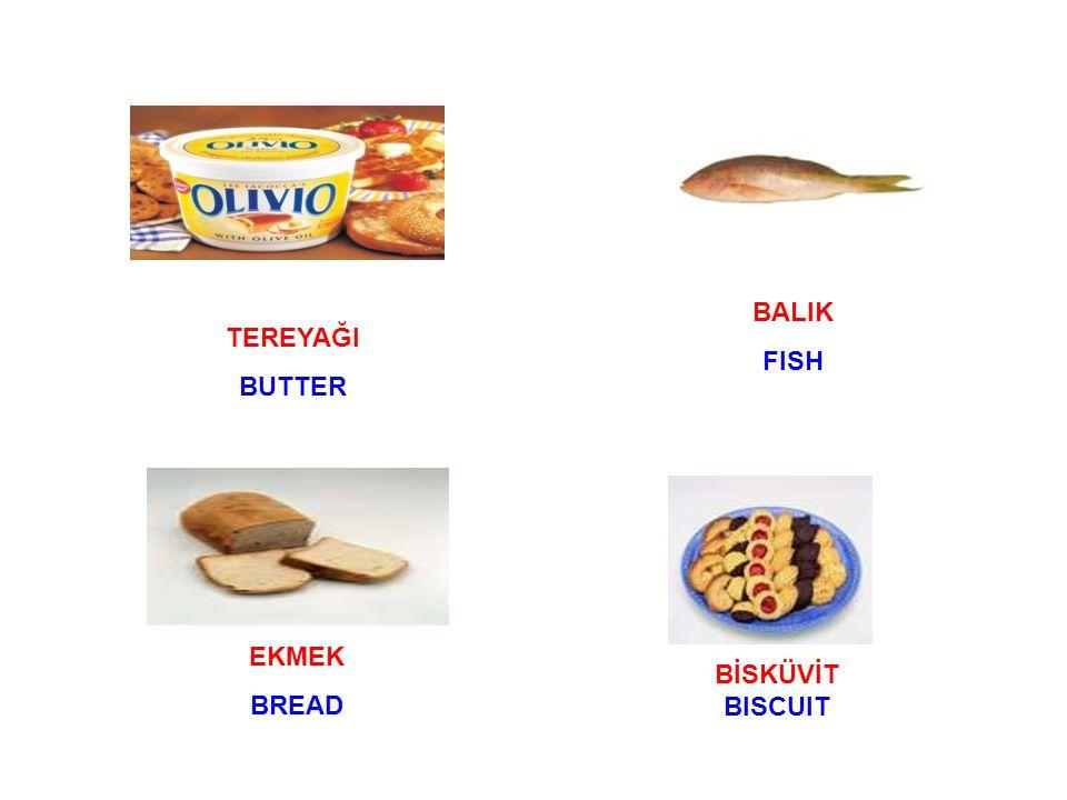 TEREYAĞI BUTTER BALIK FISH EKMEK BREAD BİSKÜVİT BISCUIT