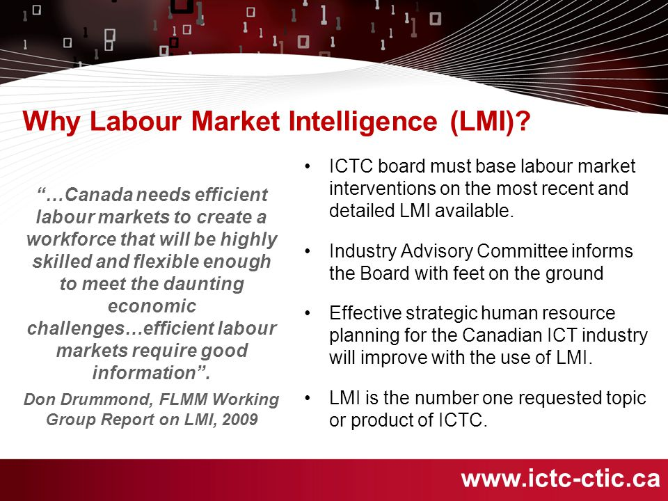 Why Labour Market Intelligence (LMI).