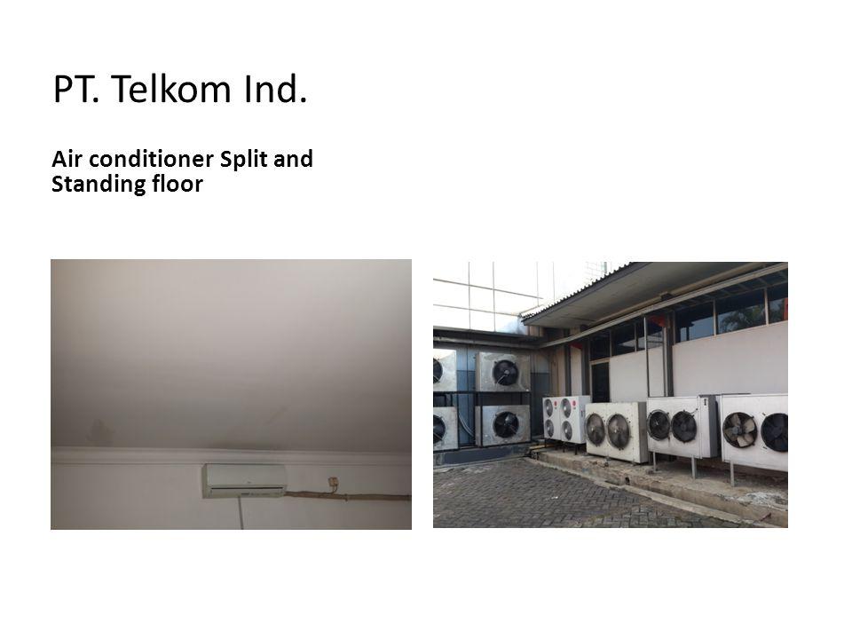 PT. Telkom Ind. Air conditioner Split and Standing floor
