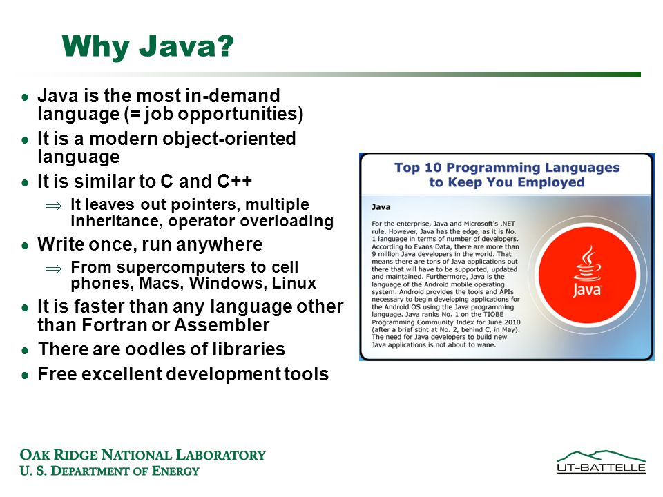 Why Java.