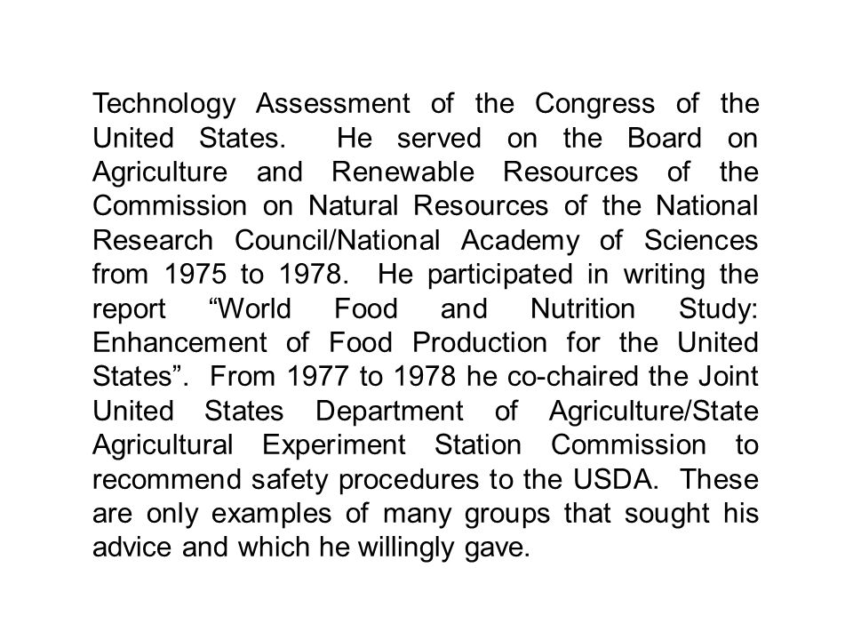 Technology Assessment of the Congress of the United States.