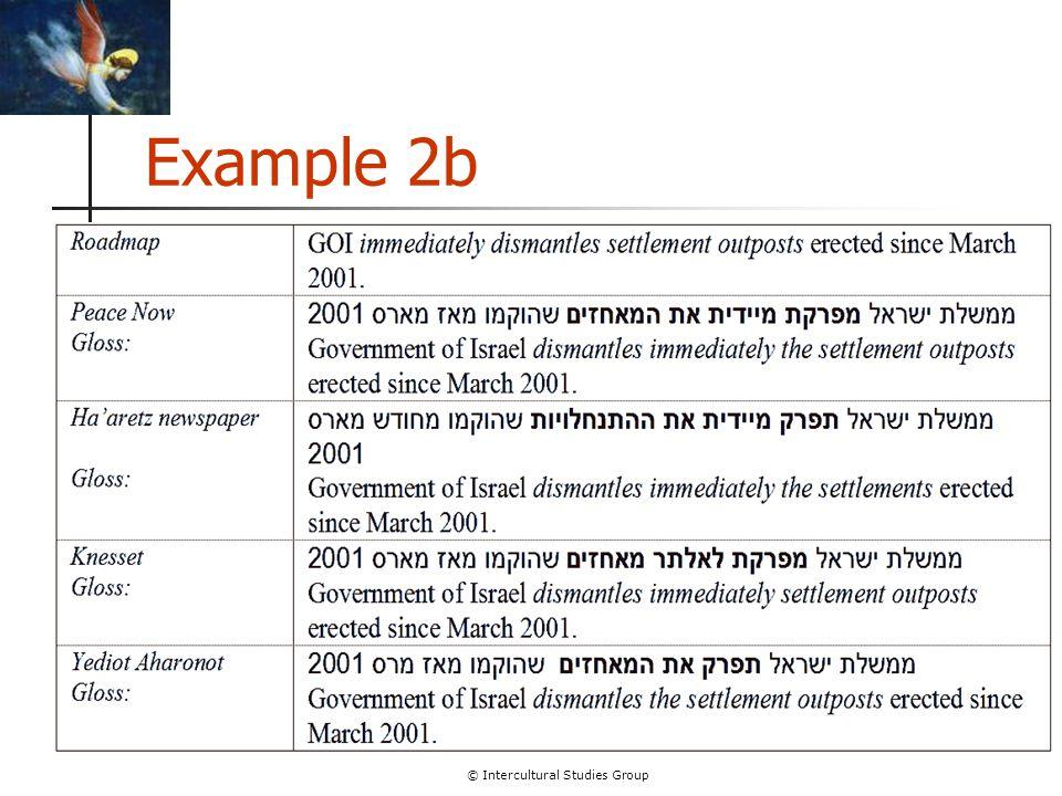 © Intercultural Studies Group Example 2b
