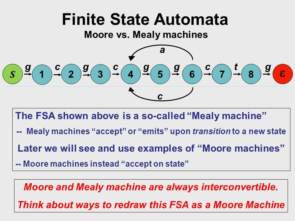 Finite State Automata Moore vs.