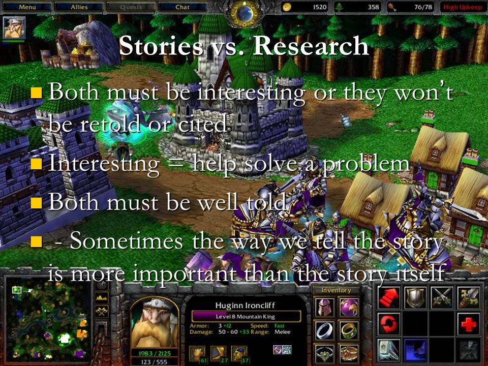Stories vs.
