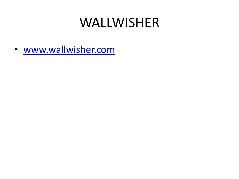 WALLWISHER www.wallwisher.com