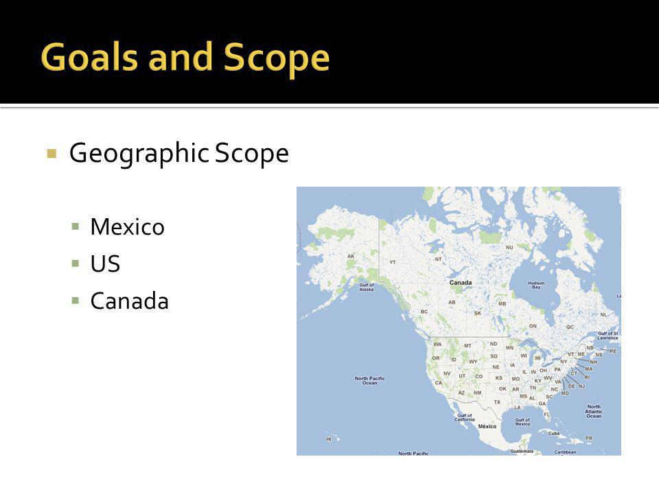  Geographic Scope  Mexico  US  Canada