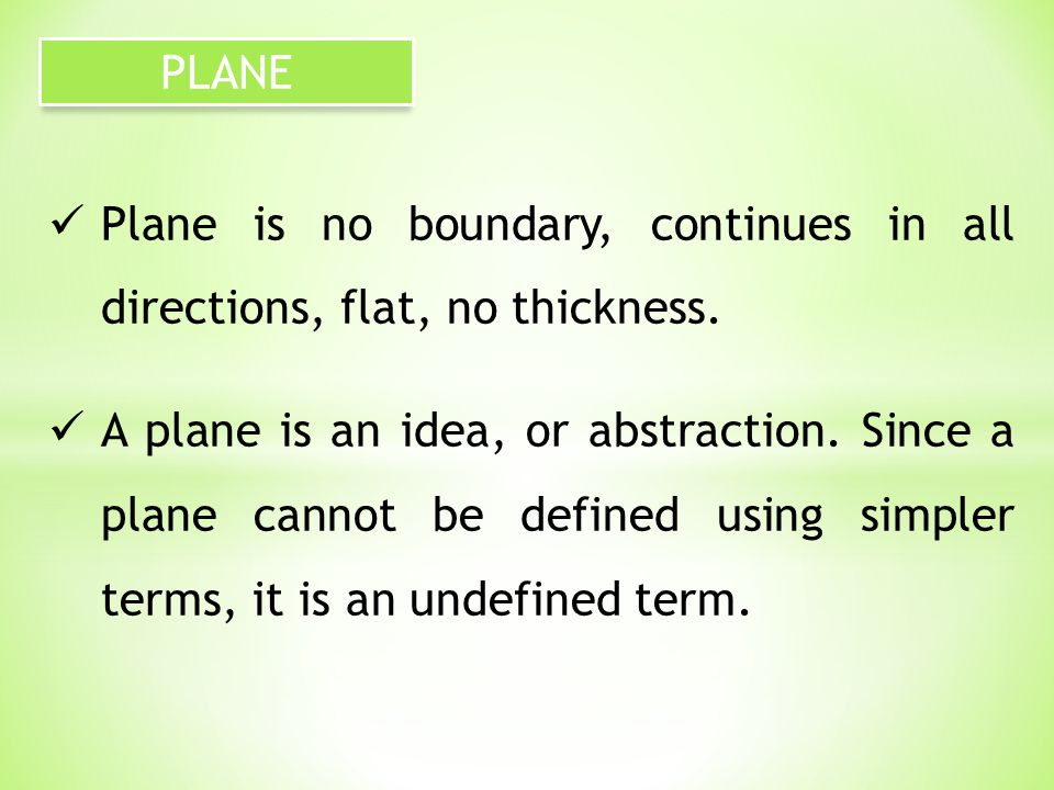 A circle is the set of all points in a plane that are a fixed distance from a given point in the plane.