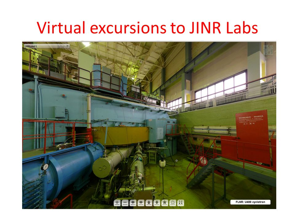 Virtual excursions to JINR Labs