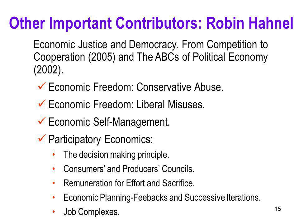 15 Economic Justice and Democracy.