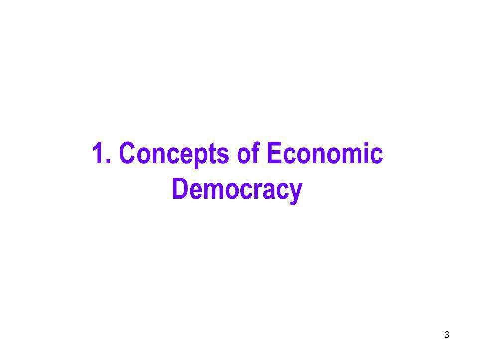 3 1. Concepts of Economic Democracy