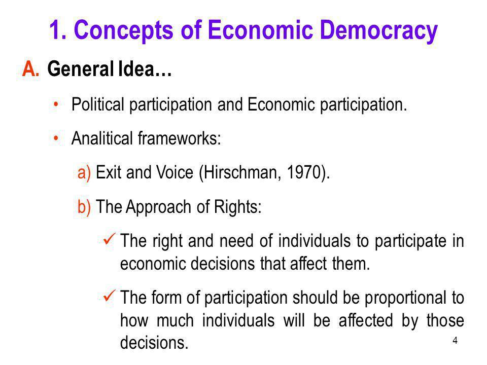4 A.General Idea… Political participation and Economic participation.