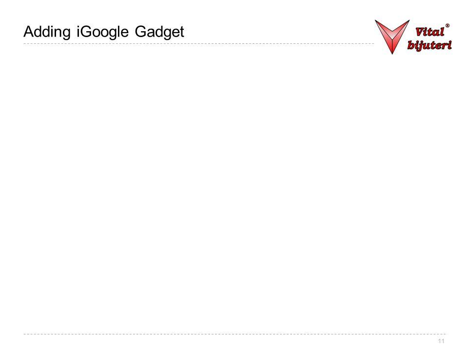 11 Adding iGoogle Gadget