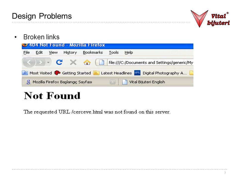 7 Design Problems Broken links
