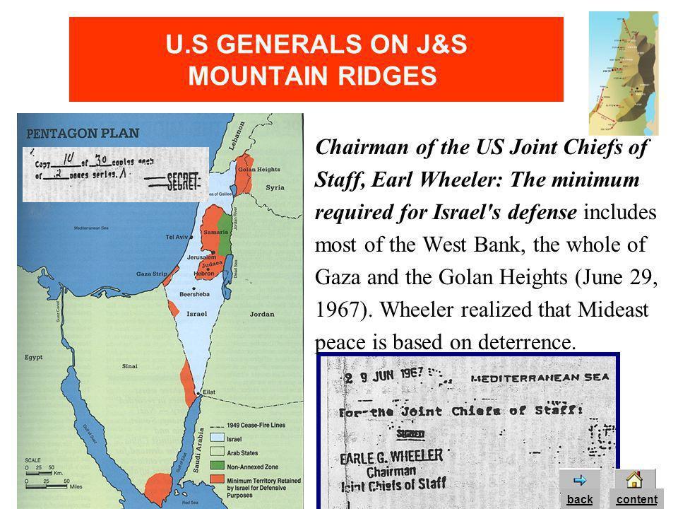 U.S GENERALS ON J&S MOUNTAIN RIDGES Lt.
