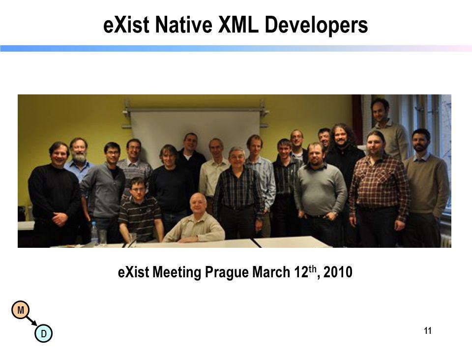 M D eXist Native XML Developers 11 eXist Meeting Prague March 12 th, 2010