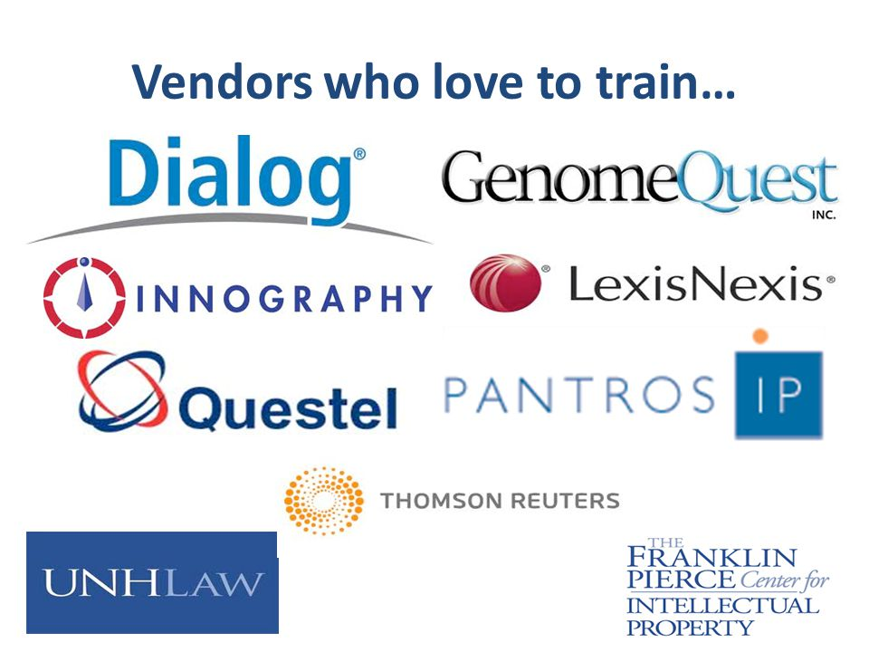 Vendors who love to train…