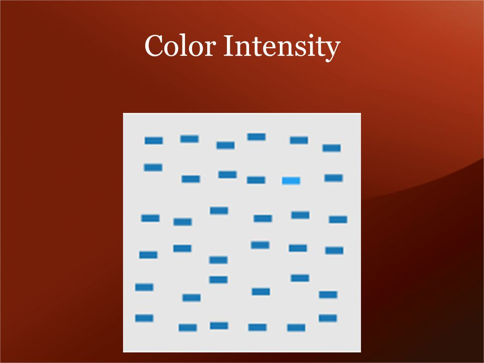 Color Intensity
