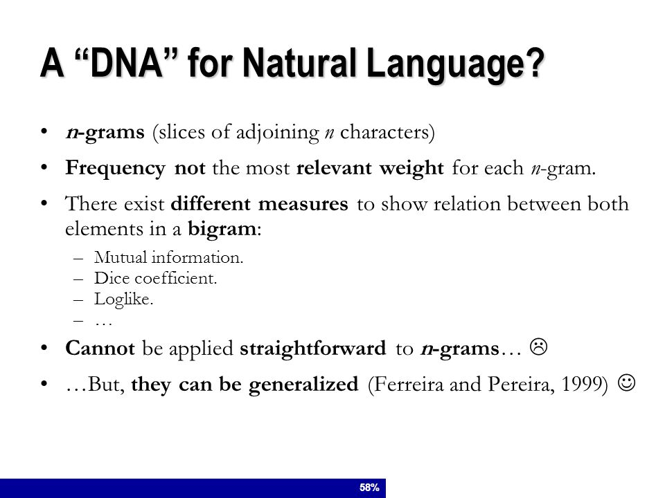 A DNA for Natural Language.