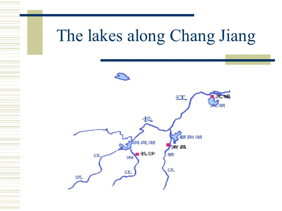 The lakes along Chang Jiang