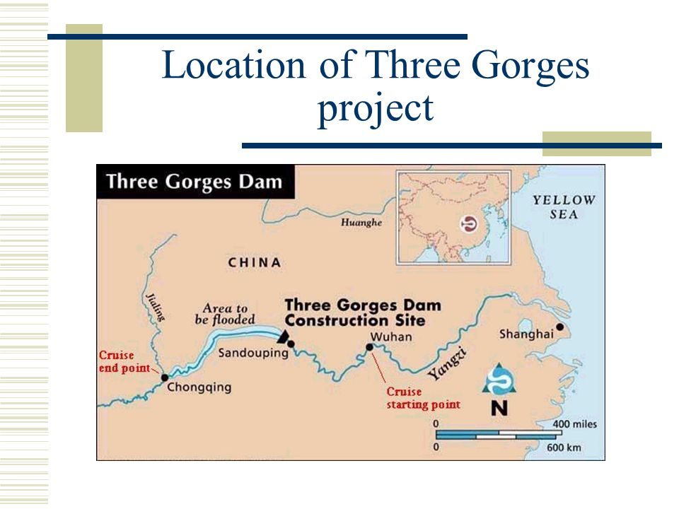 Location of Three Gorges project