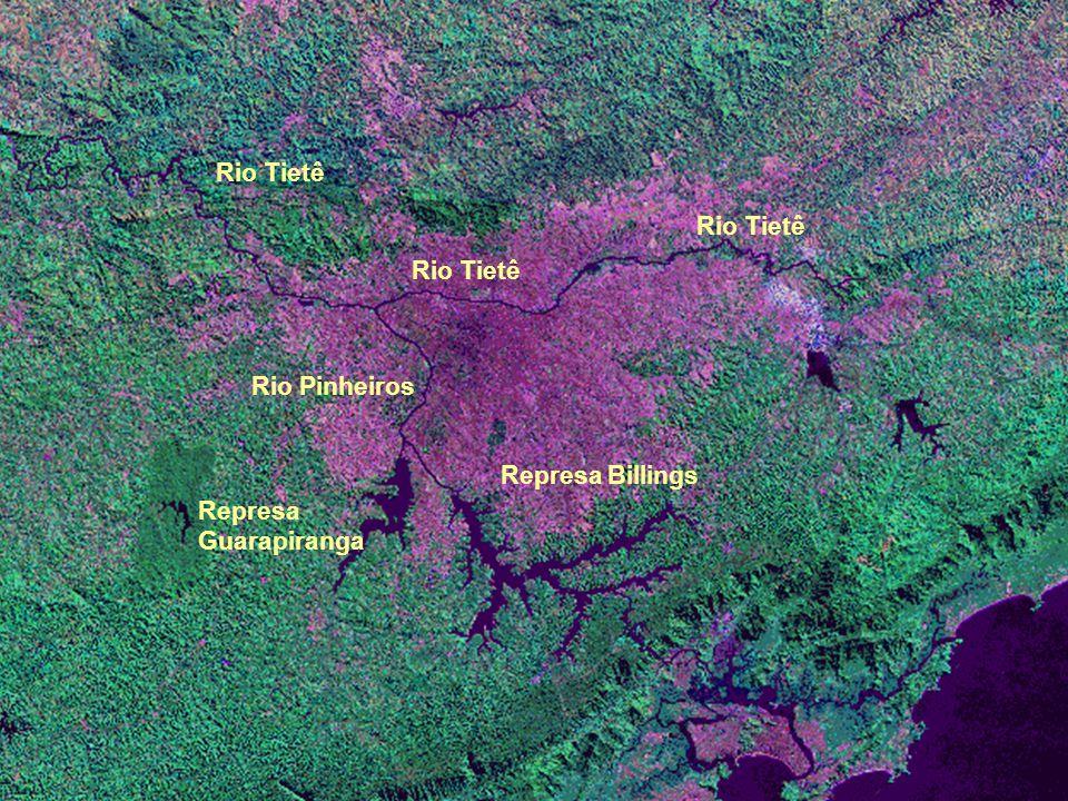 Rio Tietê Rio Pinheiros Represa Billings Represa Guarapiranga Rio Tietê