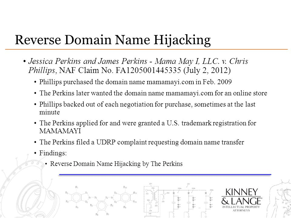 Reverse Domain Name Hijacking Jessica Perkins and James Perkins - Mama May I, LLC.