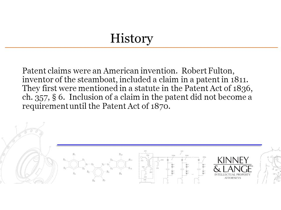 History Patent claims were an American invention.