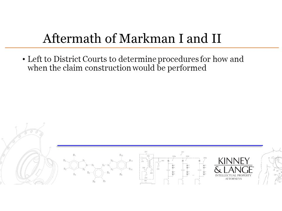 Aftermath of Markman I and II Left to District Courts to determine procedures for how and when the claim construction would be performed