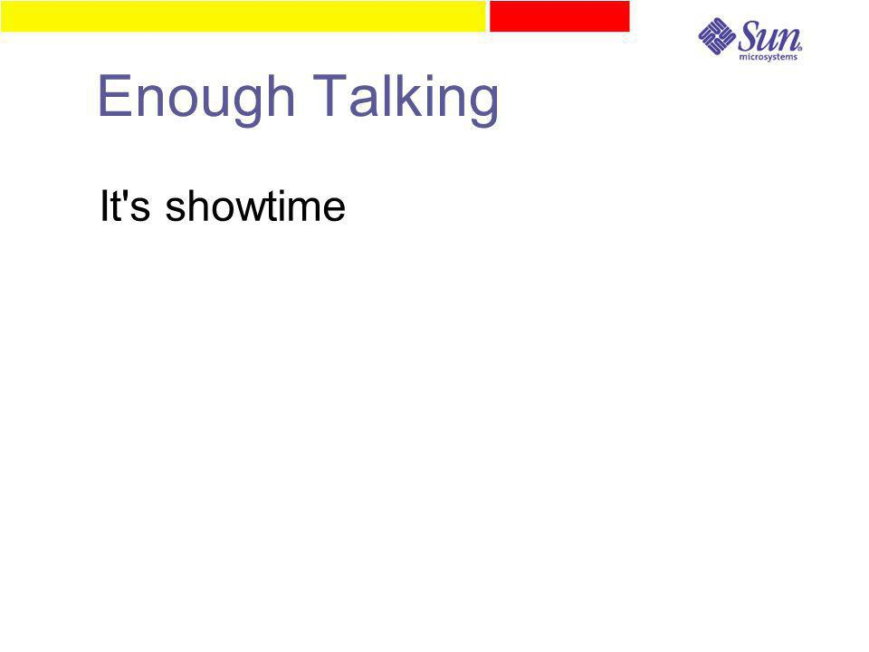 Enough Talking It s showtime